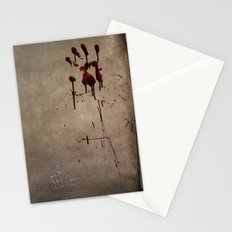 Zombie Attack Bloodprint - Halloween Stationery Cards