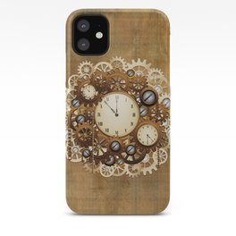 Steampunk Vintage Style Clocks and Gears iPhone Case
