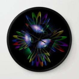 Abstract perfection - Light is energy Wall Clock