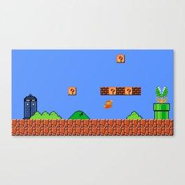 Dr. Mario? No...Doctor Who? Canvas Print