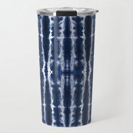 Palm Tiki Shibori Indigo Travel Mug