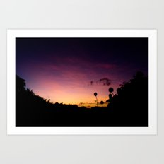 Beautiful Multi Colored Sunset Art Print