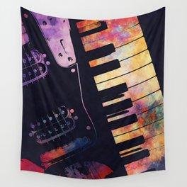 piano and guitar art #piano #guitar #music Wall Tapestry