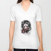 princess mononoke V-neck T-shirts featuring princess mononoke by ururuty