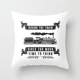 Locomotive Railroad Trains Train Driver Gift Idea Throw Pillow