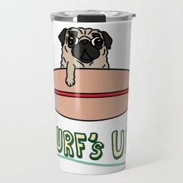 Surf's Up Pug Travel Mug