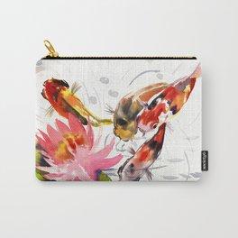 Koi Pond, feng shui koi fish art, design Carry-All Pouch