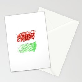 flag of hungary - chalk version Stationery Cards