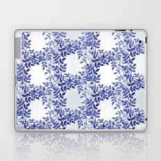 Delicate watercolor pattern with leaves Laptop & iPad Skin