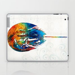 Colorful Horseshoe Crab Art by Sharon Cummings Laptop & iPad Skin