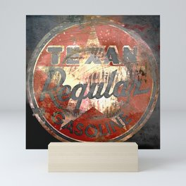 Texan - Vintage Label Mini Art Print