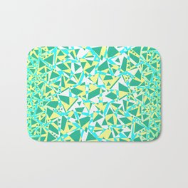 Pieces of colorful broken glass in summer colors Bath Mat