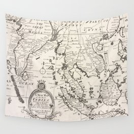 Vintage Map of Indonesia (1700) Wall Tapestry