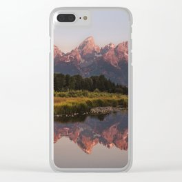 Morning in the Tetons Clear iPhone Case