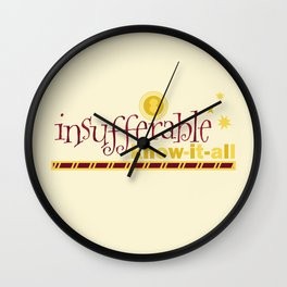 Know-it-all Wall Clock