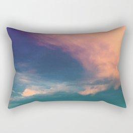 Dramatic Sunset Sky - pink purple and aqua cloudscape Rectangular Pillow