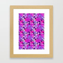 Retro New Zealand Floral Pattern Framed Art Print