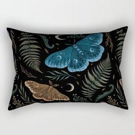 Moths and Ferns Rectangular Pillow