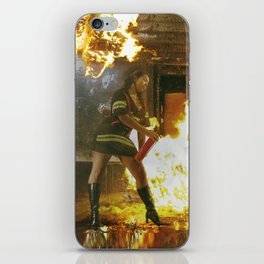 Erica Fire Girl iPhone Skin