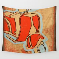 vespa Wall Tapestries featuring Vespa by Wood Grian & Grits