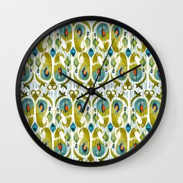 indian cucumbers balinese ikat print mini Wall Clock