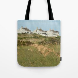 Captain Charlie's Station on Bald Head Island Tote Bag