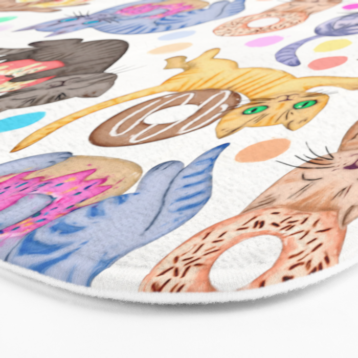 Sprinkles on Donuts and Whiskers on Kittens Bath Mat