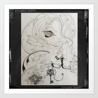 Lowbrow Misfit Key Holder Art Print