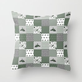 Snake House cheater quilt patchwork wizarding witches and wizards Throw Pillow