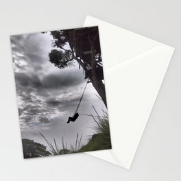 Girl on swing 2 Stationery Cards