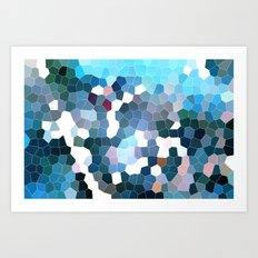 Pattern 7 - Flyin' Blues Art Print