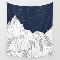 The white mountains under the stars Wall Tapestry
