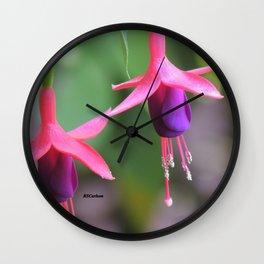 Fuchsia in the Rose Garden Wall Clock