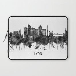 Lyon France Skyline BW Laptop Sleeve