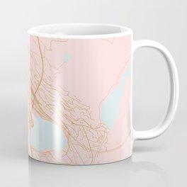 Bergen map, Norway Coffee Mug