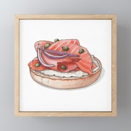 Breakfast & Brunch: Lox Framed Mini Art Print