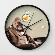 Gorilla My Dreams Wall Clock