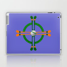 Hurley and Ball Celtic Cross Design - Solid colour background Laptop & iPad Skin