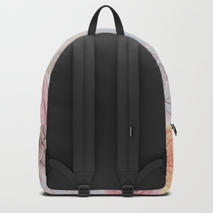 Floral Spring Greatings - Pastel Flowers on #Society6 Backpack