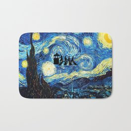 The Doctors Walking Of Starry Night Bath Mat