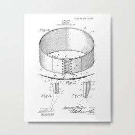 Bandage Vintage Patent Hand Drawing Metal Print