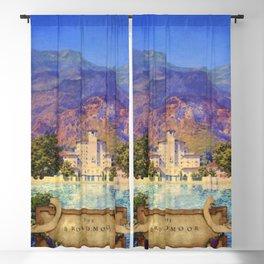 Broadmoor Hotel, Colorado Springs landscape by Maxfield Parrish Blackout Curtain