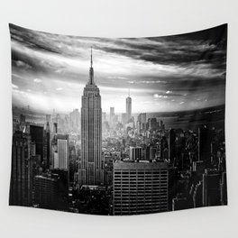 New york city black white 2 Wall Tapestry