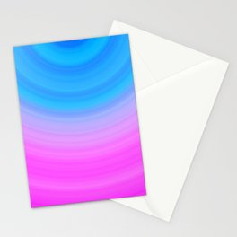 Pink & Blue Circles Stationery Cards
