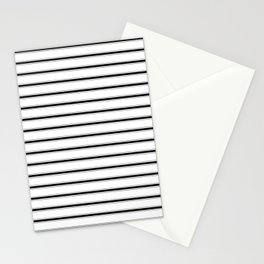 BLACK TICKING STRIPES (Horizontal) - Mix & Match Stationery Cards