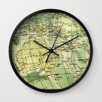 oz Wall Clocks featuring Oz Land by strentse