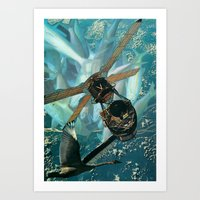 pisces Art Prints featuring Pisces by Peter Campbell