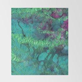emerald marble Throw Blanket