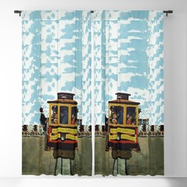 Vintage Travel Poster - San Francisco Blackout Curtain