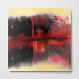 Abstract City Illusions Metal Print